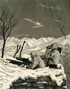 War Art Waiting for Spring- Po Valley. 1944 (1)